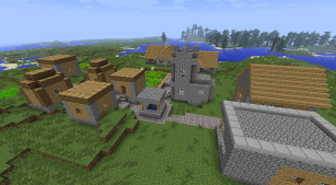 En by i Minecraft