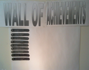 Wall of achievements